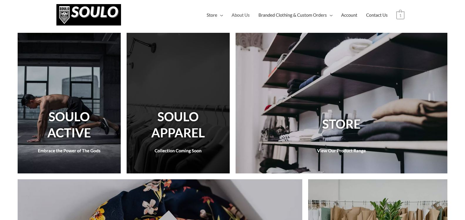 Web Design Project - Soulo Clothing Website